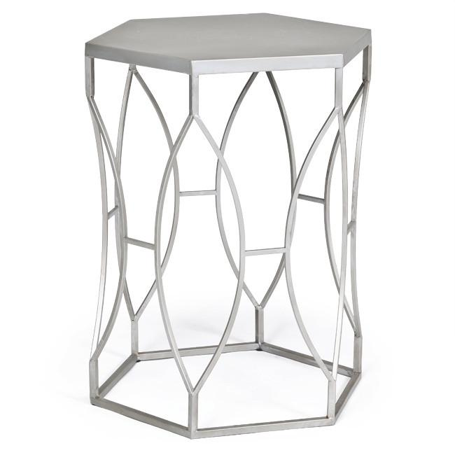 Aluminum Hexagon End Table