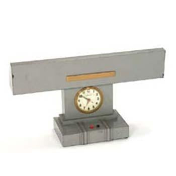 Grey Metal Desk Clock