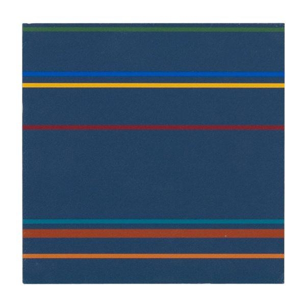 "100-284 Stripes Navy (8"" x 8"")"