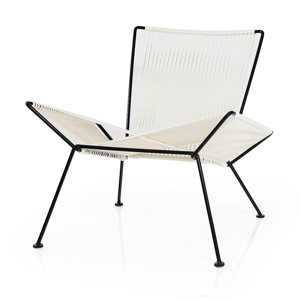 Cord X-Chair - White with Black Frame