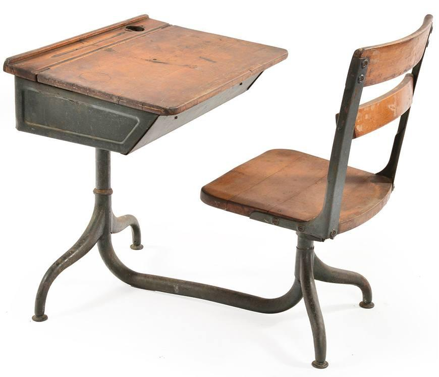 Antique Classroom Desk