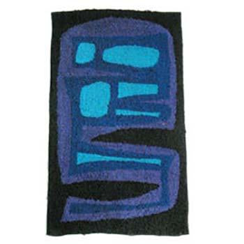 Black and Blue Modern Abstract Rug