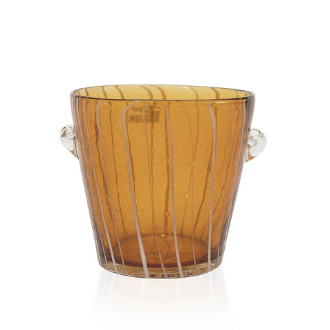 Amber Striped Short Glass