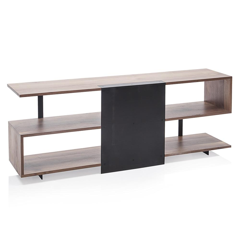 Wood Zigzag Media Console