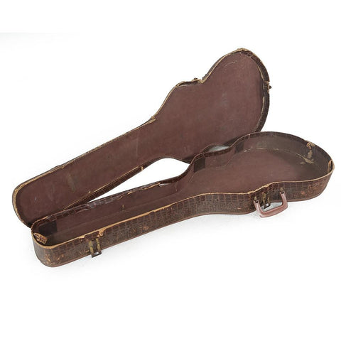 Brown Alligator Skin Guitar Case