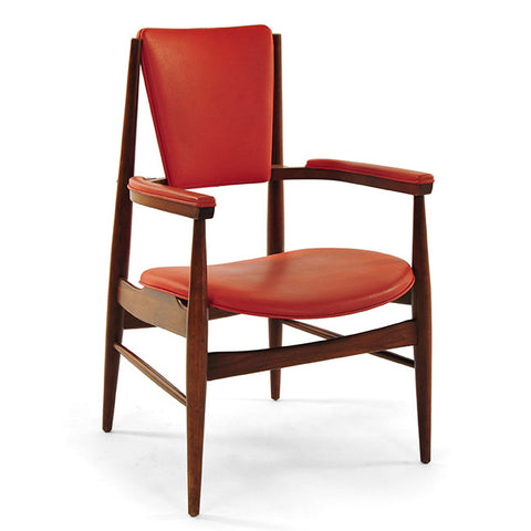 Danish Modern Arm Chair - Burnt Orange