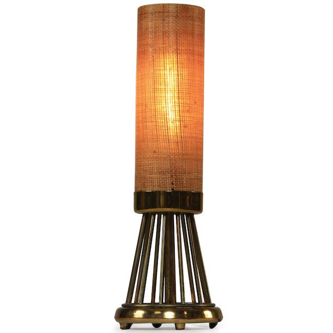 Burlap Cylinder Table Lamp