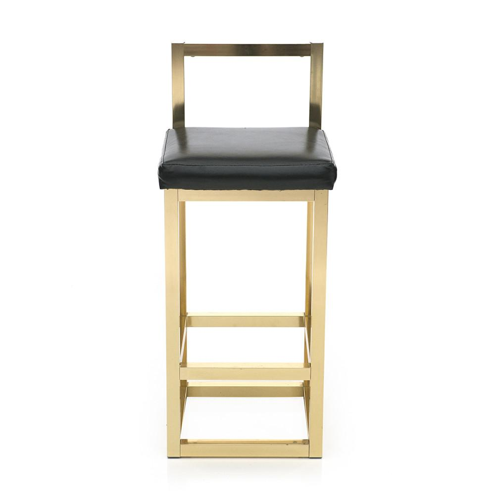 Gold Black Barstool