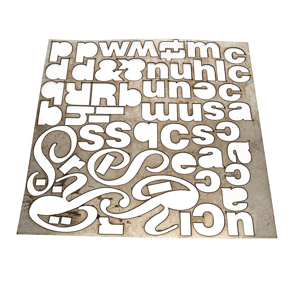 Metal Alphabet Wall Art
