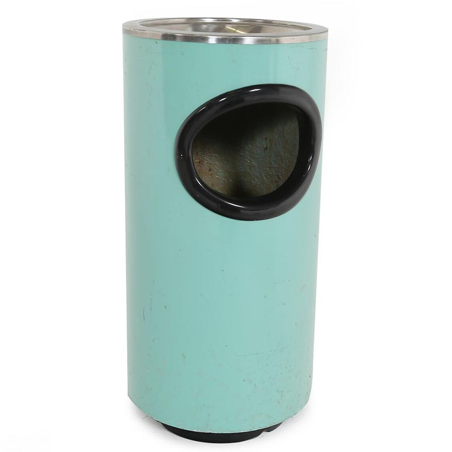 Turquoise Trash Can