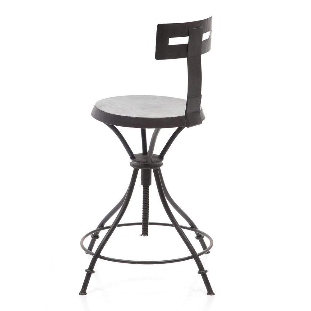 Curve Back Industrial Stool