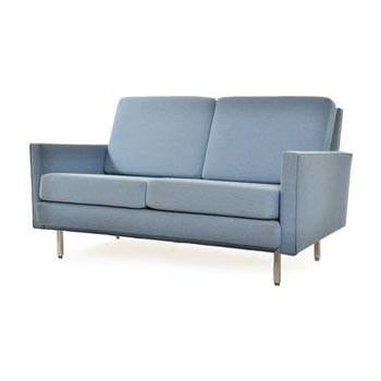 Case Study Love Seat Baby Blue