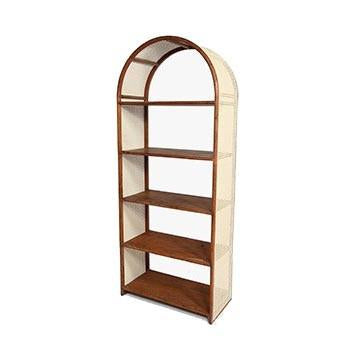 Wood Straw Weave Shelving
