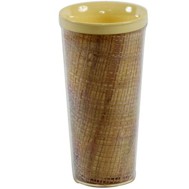 Bamboo Plastic Cylinder Cup - Yellow