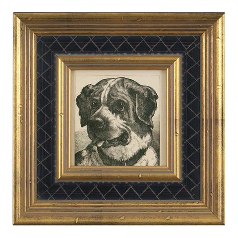 "BFA 100-193 Dog Black Gold Frame (8"" x 8"")"
