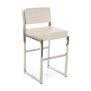 White Cushion Counter Stool
