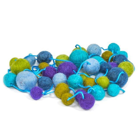 Blue Aqua Green BFA Felt Ball String Art