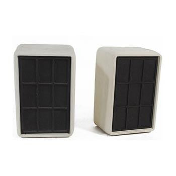 White and Black Rectangle Speakers