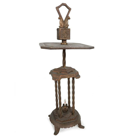Bronze Metal Candle Holder