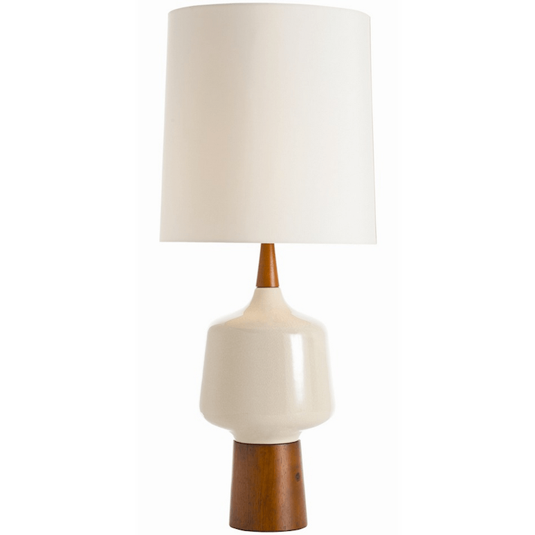 Cream Crackle Table Lamp