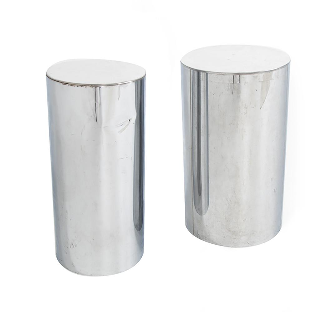 Short Chrome Cylinder Pedestal