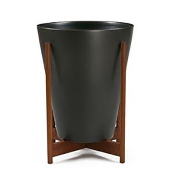 Case Study Ceramic Funnel with Wood Stand - Black