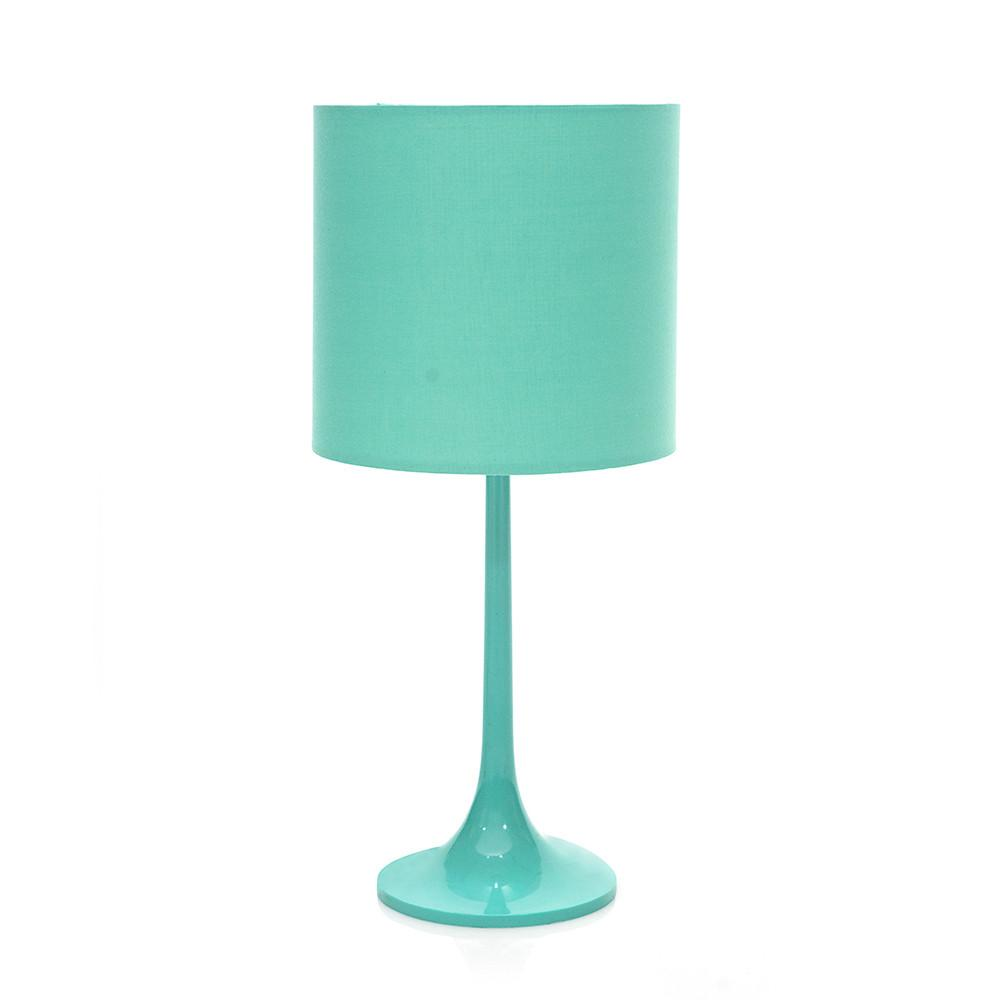 Turquoise Plastic Table Lamp