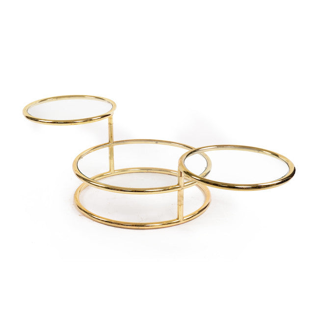 Adjustable Brass Ring Coffee Table