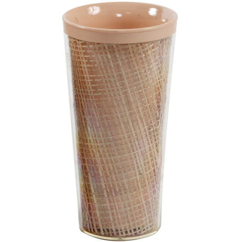 Bamboo Plastic Cylinder Cup - Peach