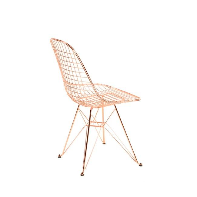 Copper Wire Chair on Eiffel Base
