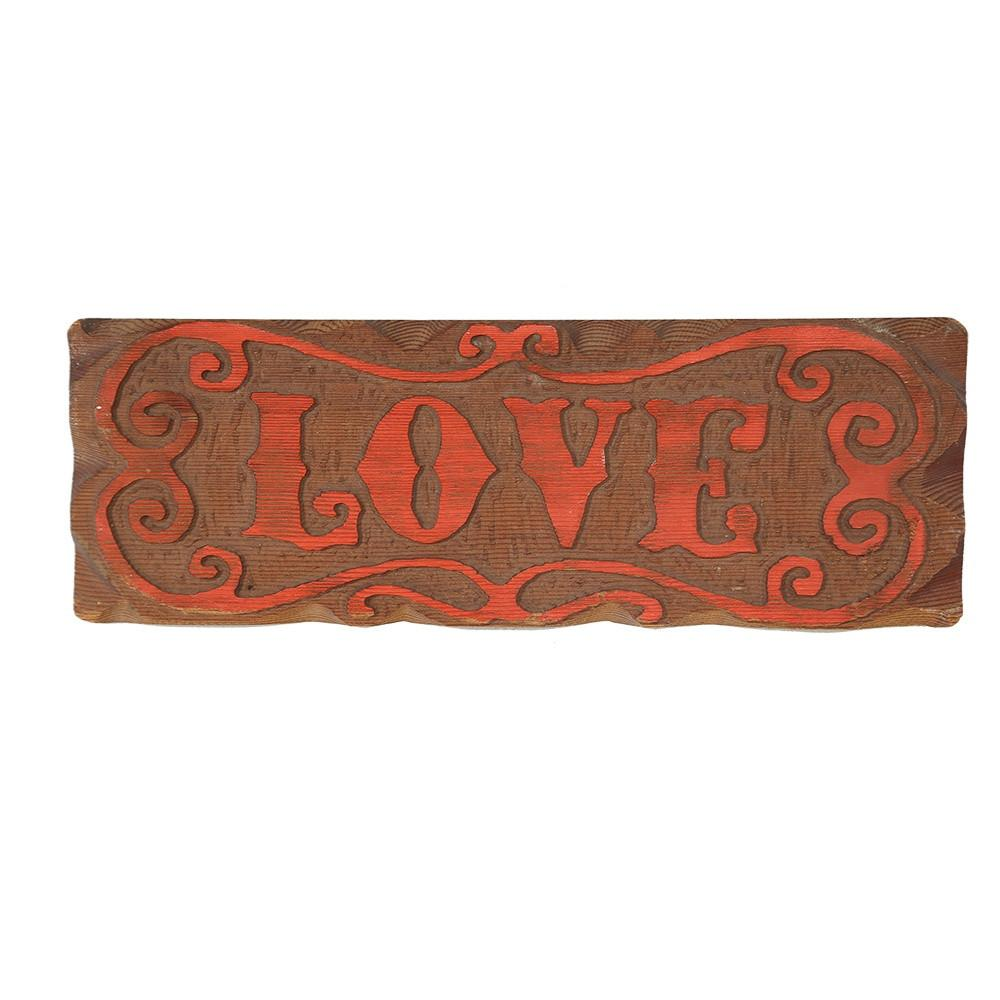LOVE Wood Wall Plaque