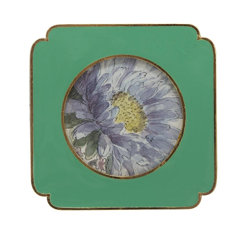 "BFA  100-904 Floral Green Small (4"" x 4"")"