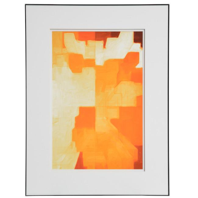 "100-751 Orange Dynamic Abstract (18"" x 24"")"