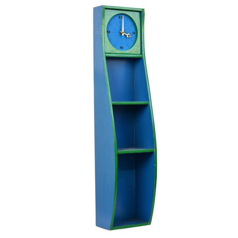 Green - Blue Shelf Clock