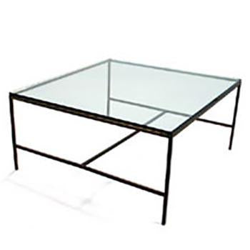 Paul McCobb Brass Square Coffee Table
