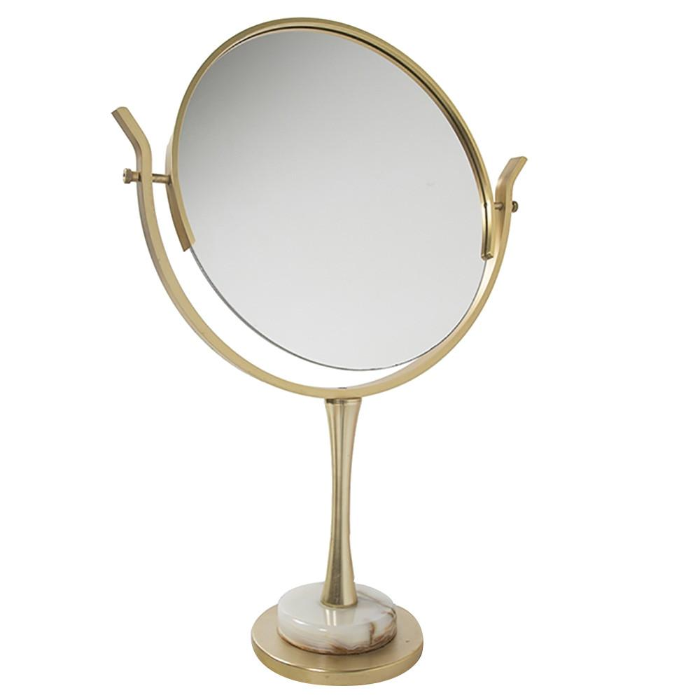 Large Gold and Marble Table Mirror