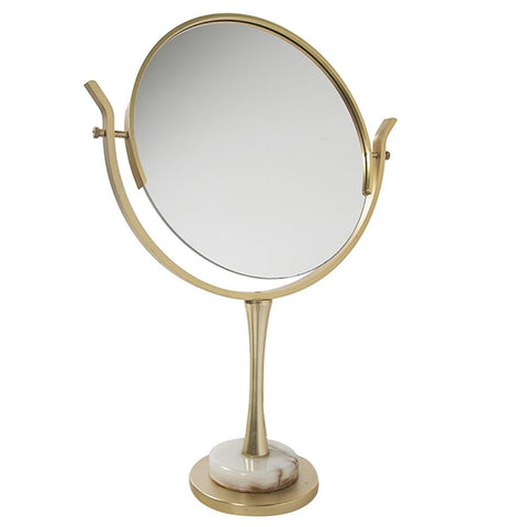 Gold and Marble Table Mirror