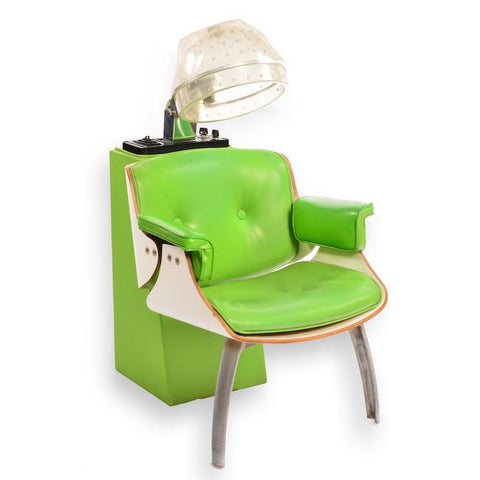 Lime Green Hair Drying Station Lounge Chair