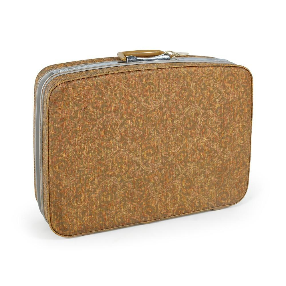 Tan Patterned Luggage