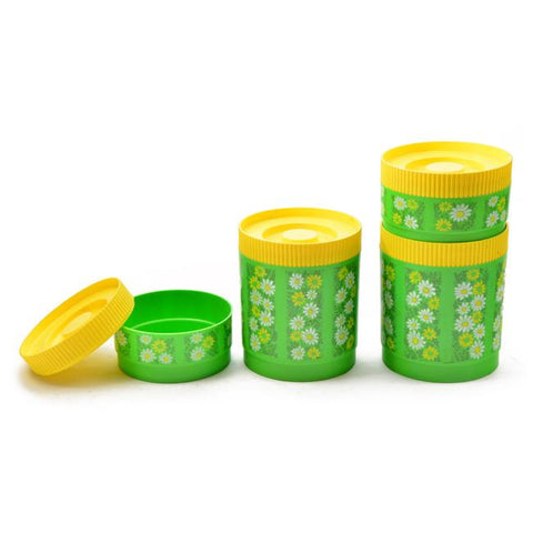 Canisters - Green Flowers