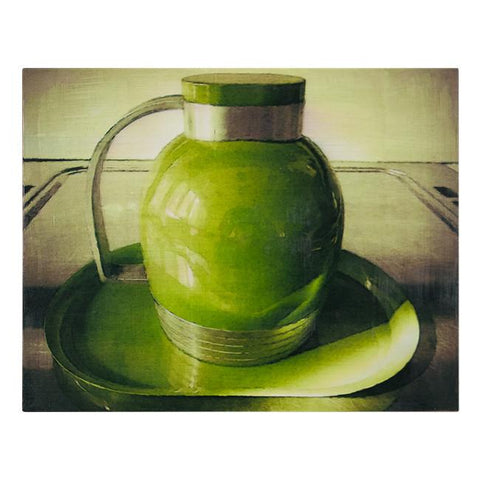"100-111 Green Thermos (14""x 11"")"