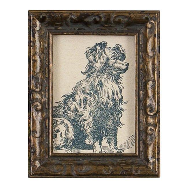 "BFA 100-190 Dog Small Gold Frame (3.5"" x 4.5"")"