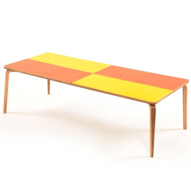 Fiberglass Coffee Table - Orange & Yellow