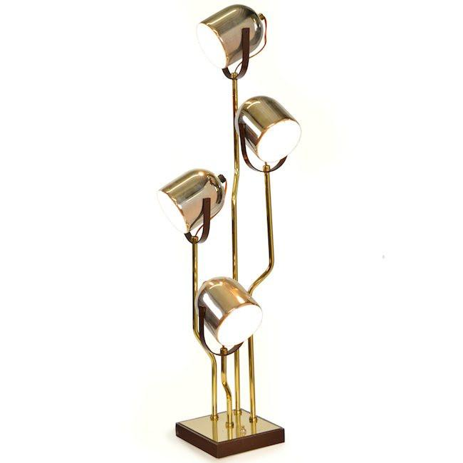 Brass 4 Light Table Lamp