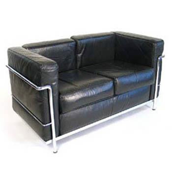 Le Corbusier-Style Petit Confort Loveseat - Black
