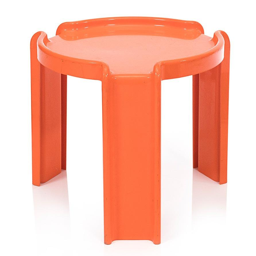 Plastic Side Table - Orange