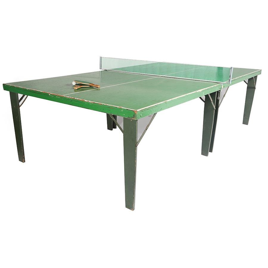 Folding Green Vintage Ping Pong Table