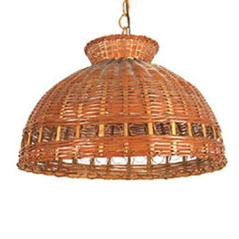 Wicker Dome Hanging Pendant