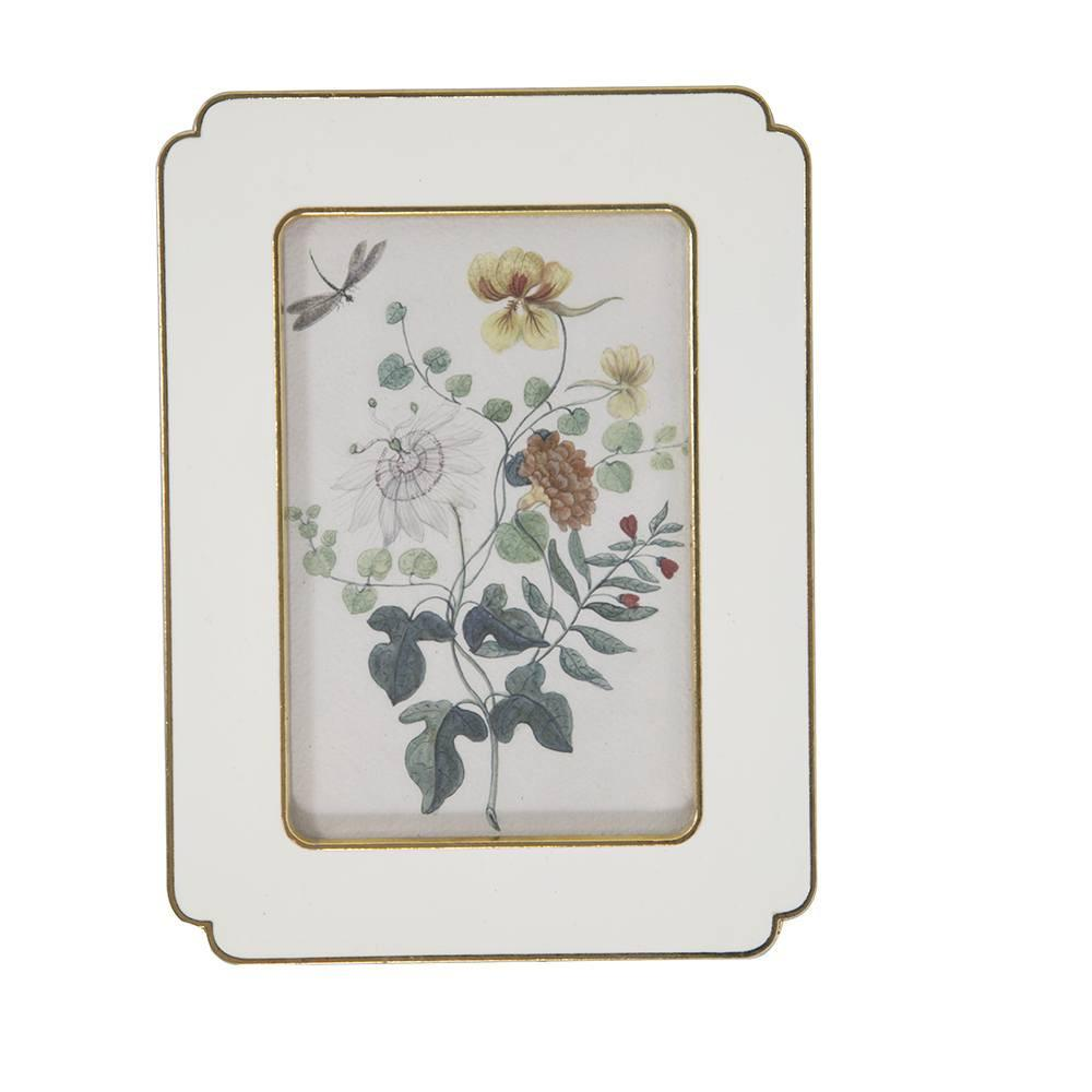 "BFA  100-907 Floral White Medium (6"" x 7.5"")"