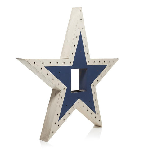White and Blue Star Light